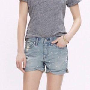 Madewell Paint Splatter Shorts